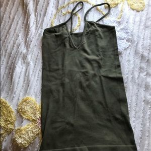 Tops - Olive green tank.